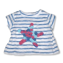 Load image into Gallery viewer, Hatley Floral Star Baby Tee