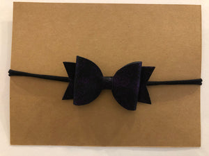 Medium Bow Headband- Metallic