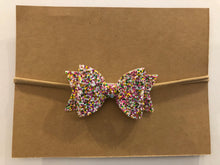 Load image into Gallery viewer, Medium Bow Headband- Sparkle