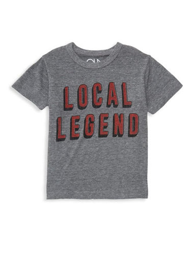 Chaser Local Legend Heather Grey Tee