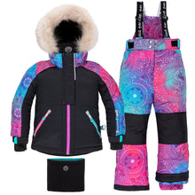 Load image into Gallery viewer, Deux Par Deux Unicorn Dreams Girls 2pc. Snowsuit