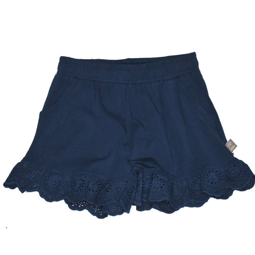 Creamie Navy Lace Short
