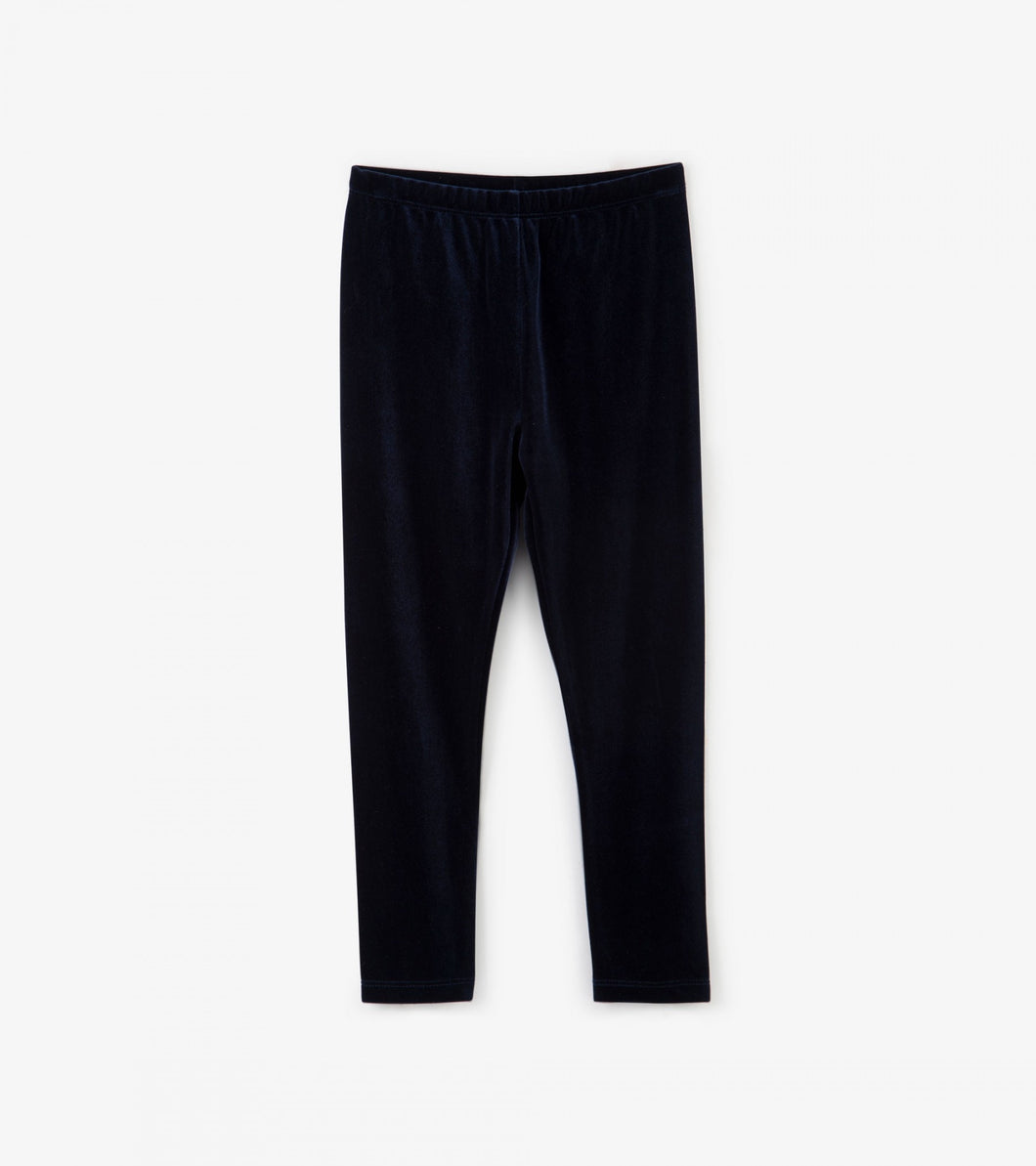 Hatley Navy Velour Leggings