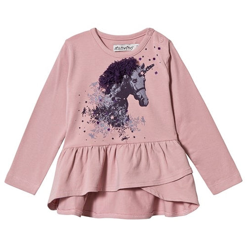 Minymo Pink Tunic with Unicorn -12m