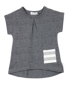 Miles Baby Girls Grey Speckled Tunic - 3m