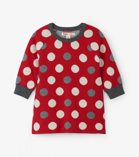 Hatley Holiday Dots Sweater Dress