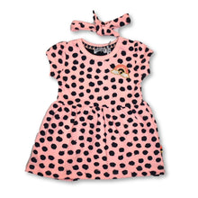Load image into Gallery viewer, Dirkje Pink Dot Dress with Headband
