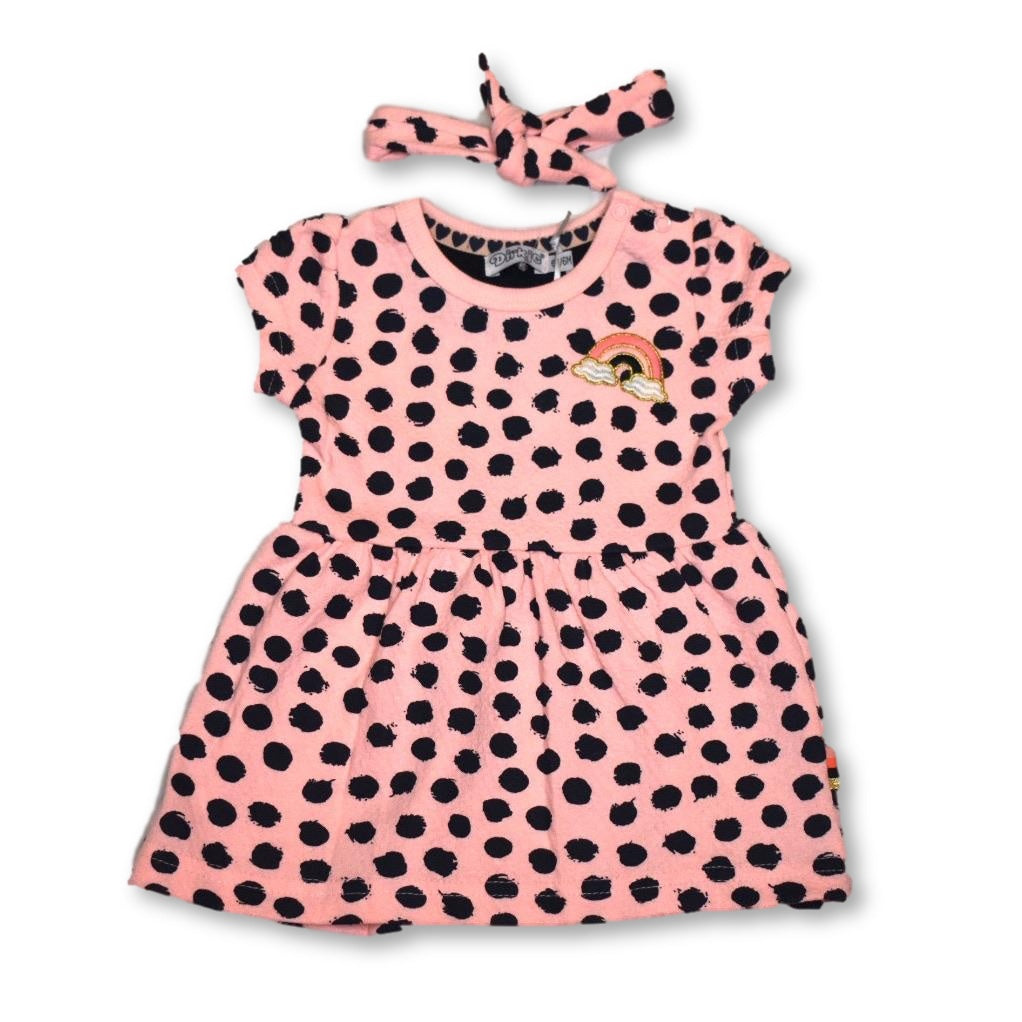 Dirkje Pink Dot Dress with Headband