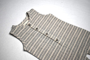 Me & Henry - Grey White Stripe Playsuit
