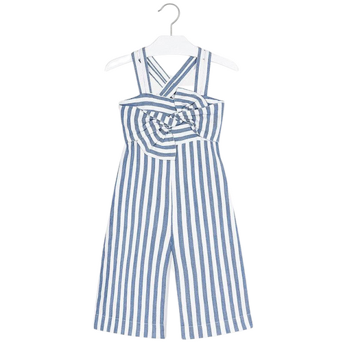 Mayoral Blue Stripe Jumpsuit - 4