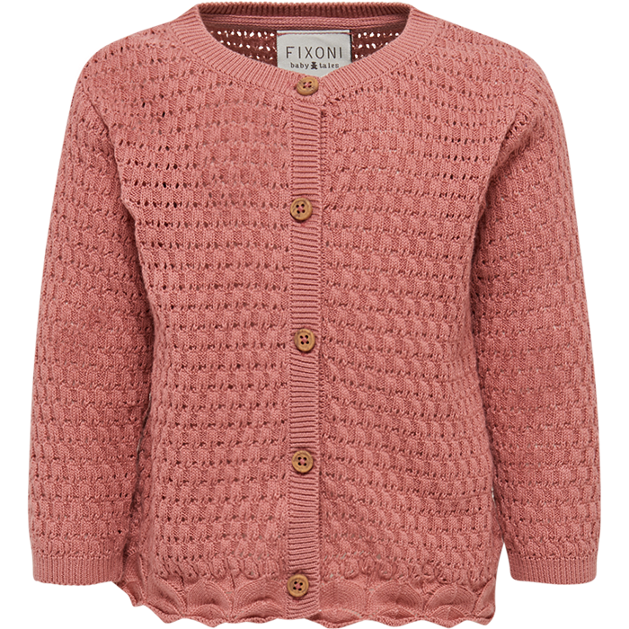 Fixoni Dusty Rose Knit Cardigan