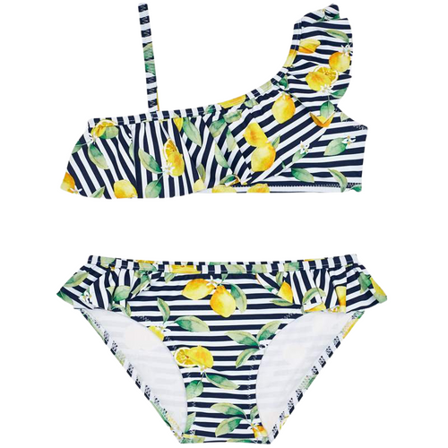 Mayoral Lemon Ruffle Bikini Bathing Suit