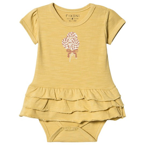 Fixoni Yellow Lollipop Bodysuit