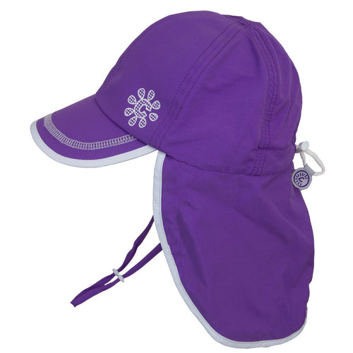Calikids UV Flap Hat - Purple 12-18m