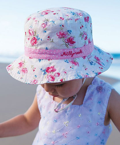 Millymook Baby Girls Bucket Hat - Vintage Floral