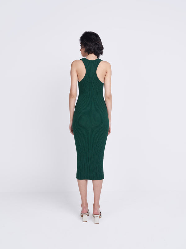 Forest Green Racerback Midi Dress