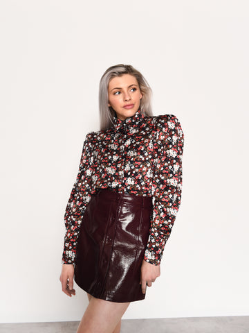 Winter Ditsy Floral Collar Shirt