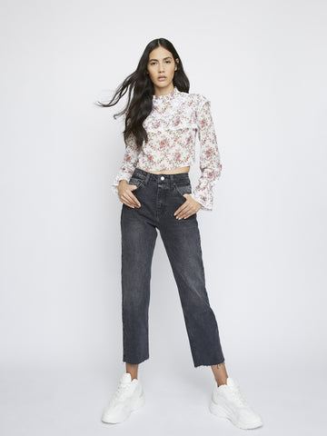 Romantic Floral Chiffon Top