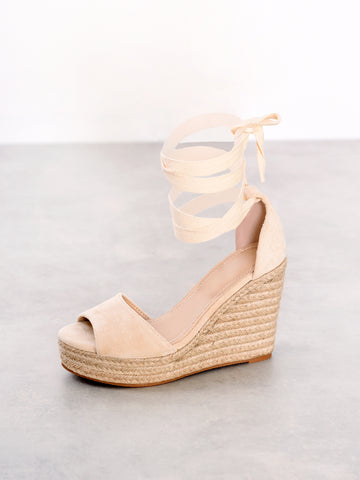 Natural Wedge Espadrille Sandals