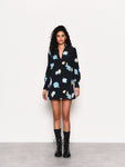 Painterly Flower Navy Mini Dress