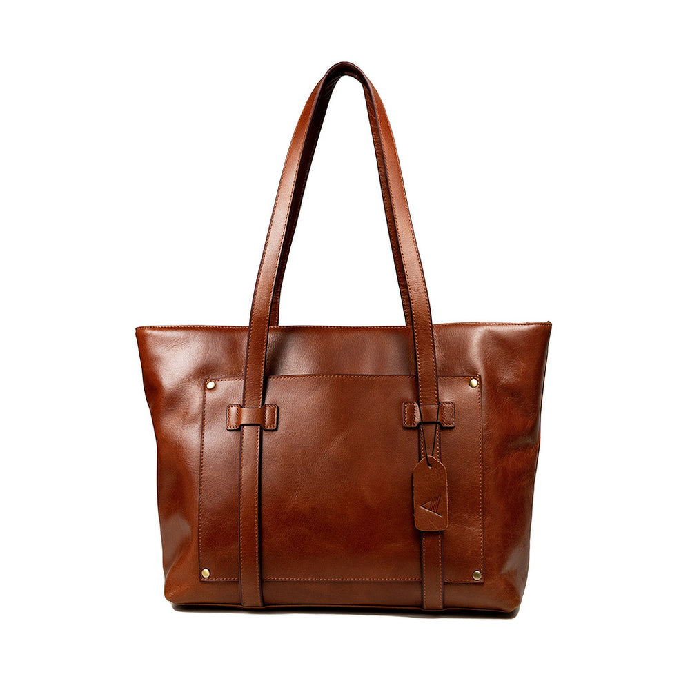 Aubrey Leather Tote Bag