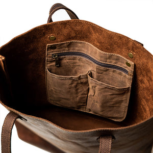 Load image into Gallery viewer, Jane Tall Leather Tote Bag