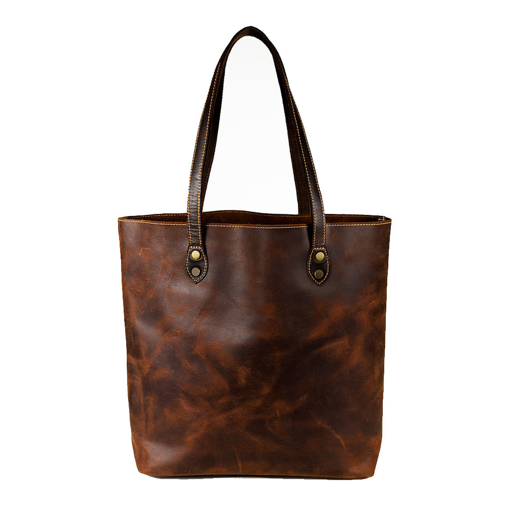 Jane Tall Leather Tote Bag