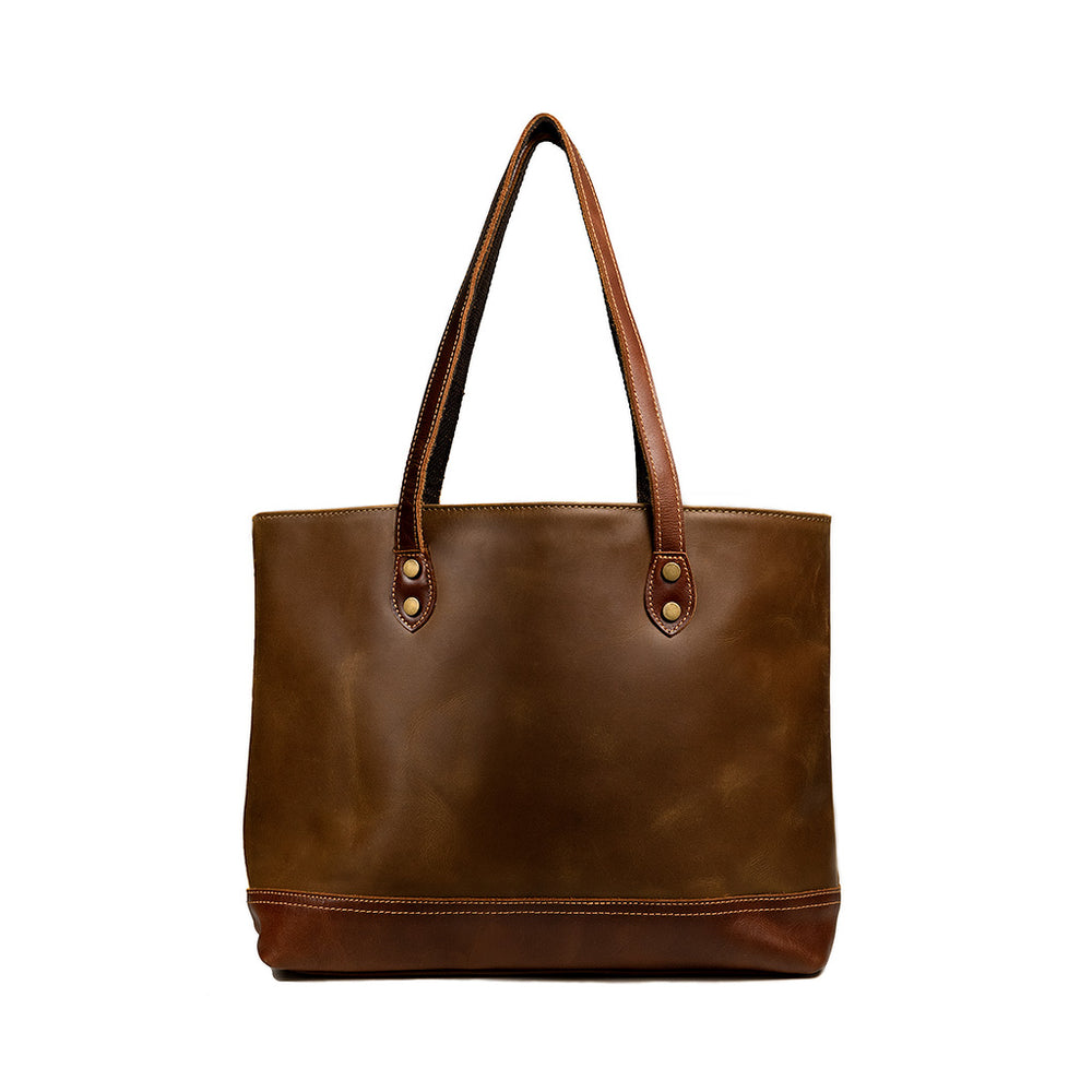 Percy Leather Tote Bag