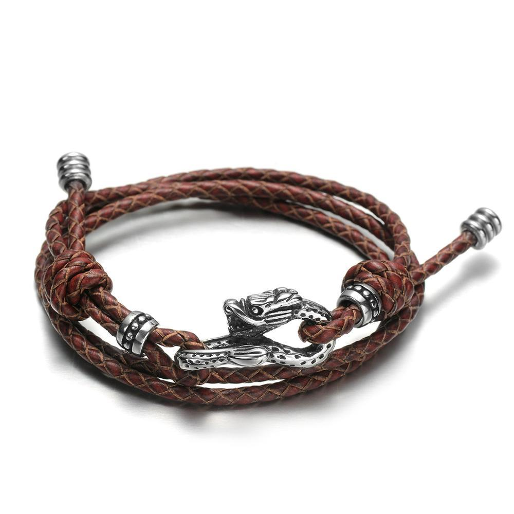 Draco Leather Bracelet - Dacian / Small