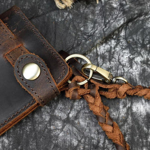 Manacle Leather Wallet - Brown