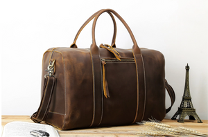 Load image into Gallery viewer, Weekender Duffle Bag - Dark Brown