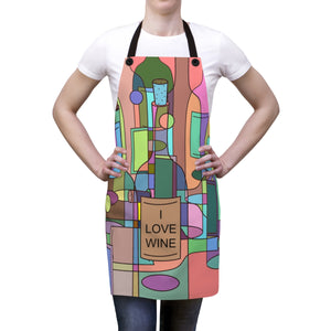 Abstract Wine Apron
