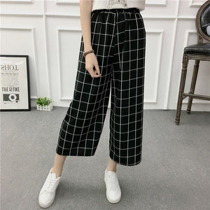 Checkered Wide Pants - Eazy Trend
