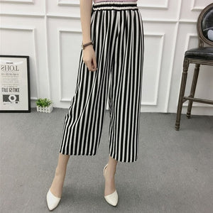 Striped Wide Pants - Eazy Trend