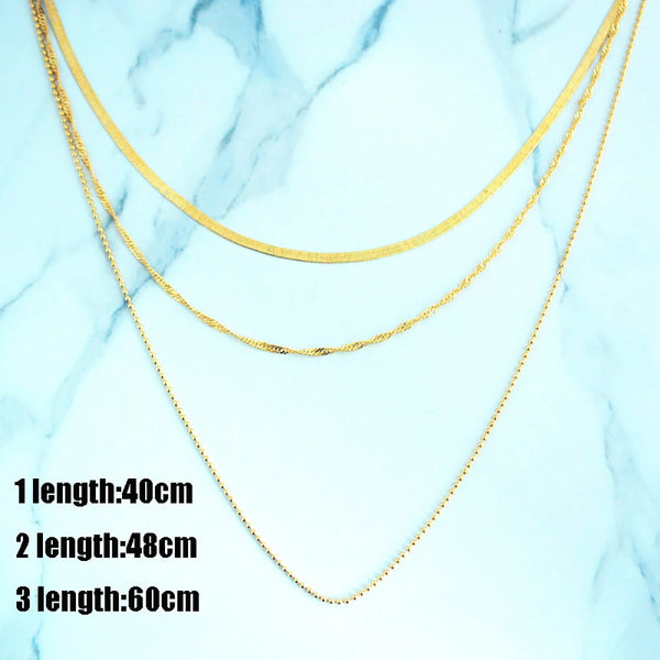 Gold Layered Necklace - Eazy Trend