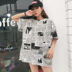 Printed Oversize T-shirt - Eazy Trend