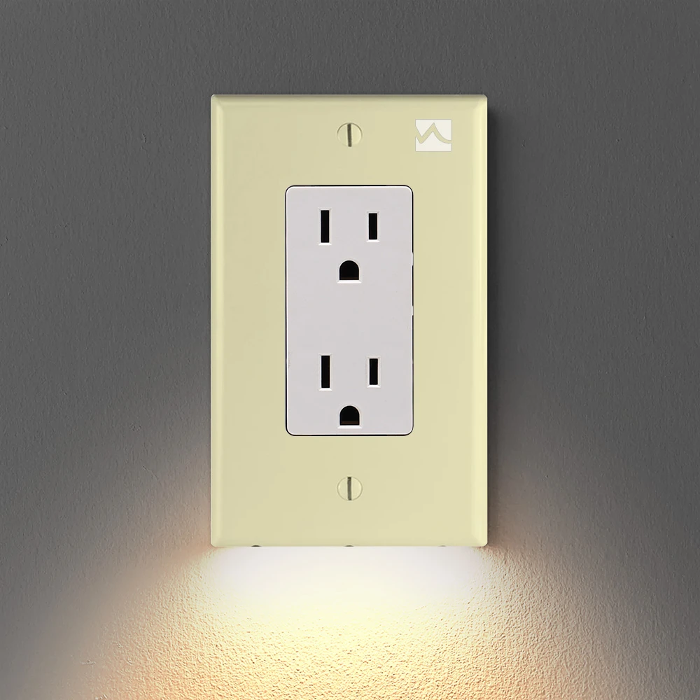 Wall Socket Night Light - No Batteries Or Wires Needed