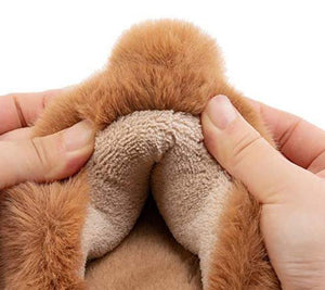 Puppy Tail Coral Fleece Plush Slippers