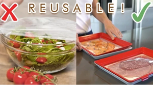 Eco+ Reusable Film Food Tray