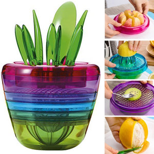 Colorful Fruit Salad all in one Tools Kitchen Accessories (10Pcs/set)
