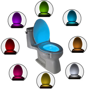 Smart LED Human Motion Sensor Activated Toilet Night Light