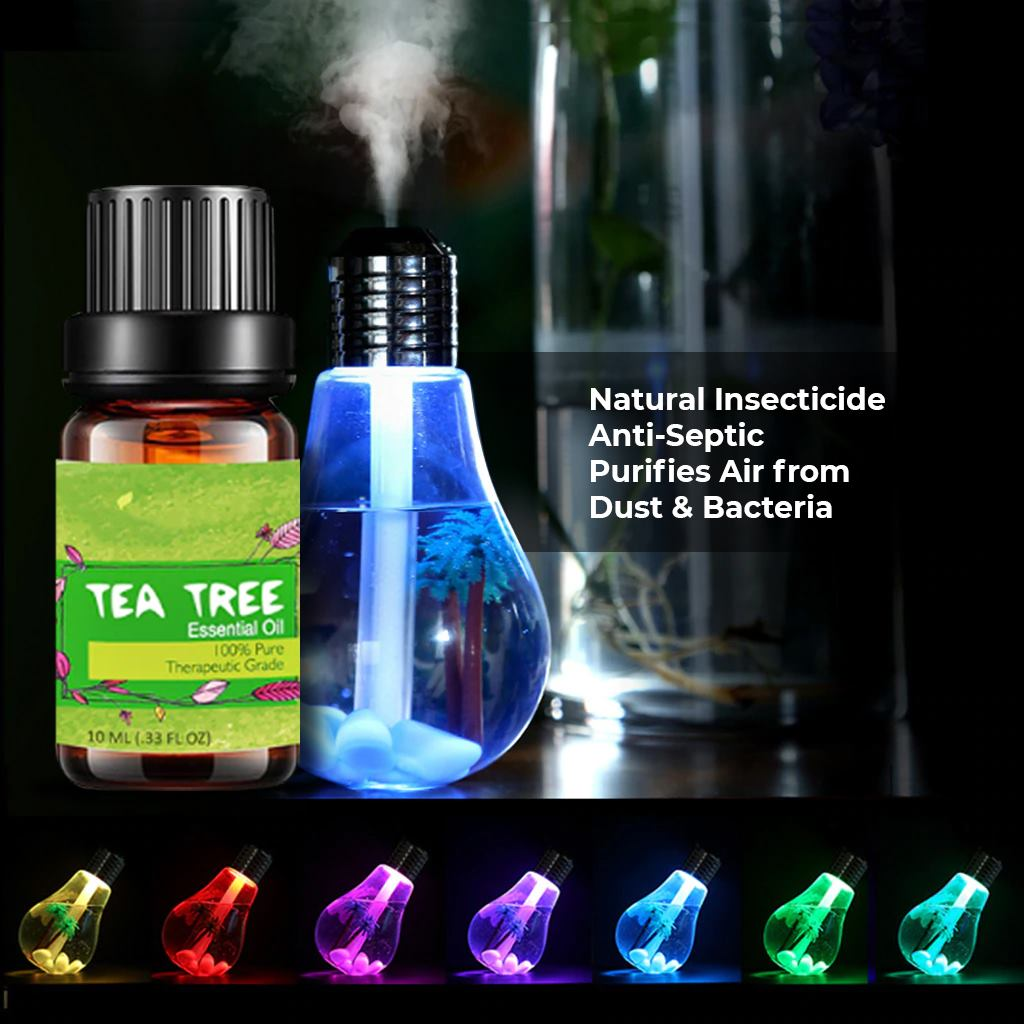 Bulb Diffuser + Tea Tree Oil Mite Reppelant