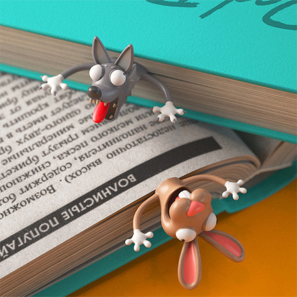 Creative 3D Funny Animal Bookmarks