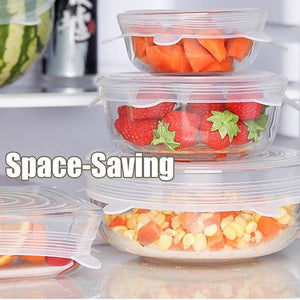 Stretch Lids Silicone Food Cover (6Pcs)