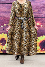 Load image into Gallery viewer, Sabrina Leopard Maxi Dress