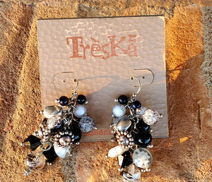 Mix it up Black and White Earrings by Treska