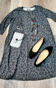 Simple Leopard Dress