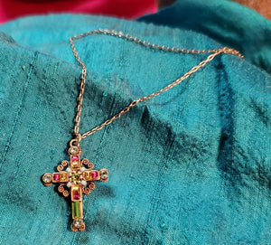 Clarissa Cross Necklace by Firefly
