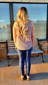 May Tribal Striped Top