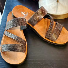 Load image into Gallery viewer, Runway Sparkle Slip On Sandals